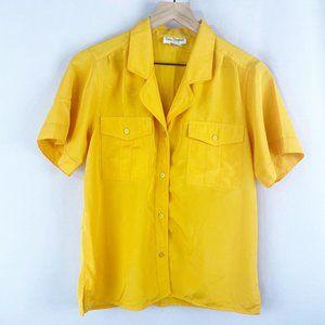 Sam Stephan Vintage Button Up Yellow Medium